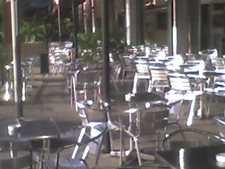 Empty chairs in the morning