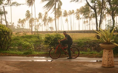 Young cyclist at Pantai Irama