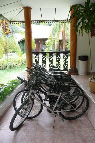 Bikes for rent at Gunong Ledang Resort