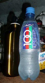 water bottles + 100