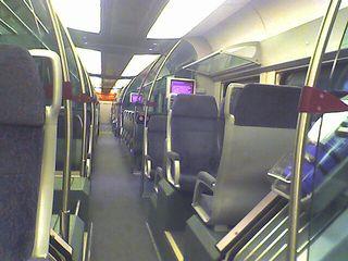 Almost empty train ERL