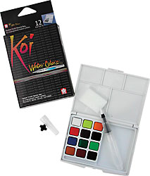 Koi water colour set -12 colours