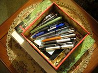 My box for pens and notebooks