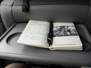 Writing my notes on the go..