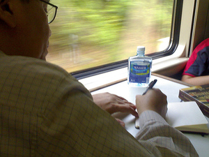 Blogging_on_the_train