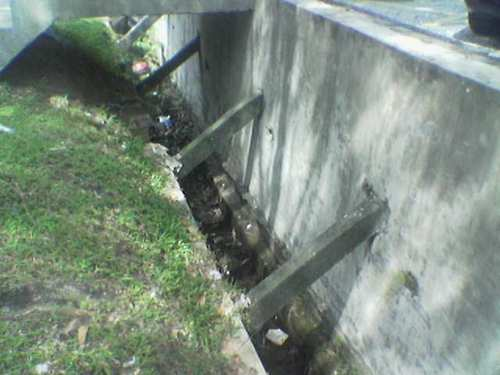 Narrow and clogged drain