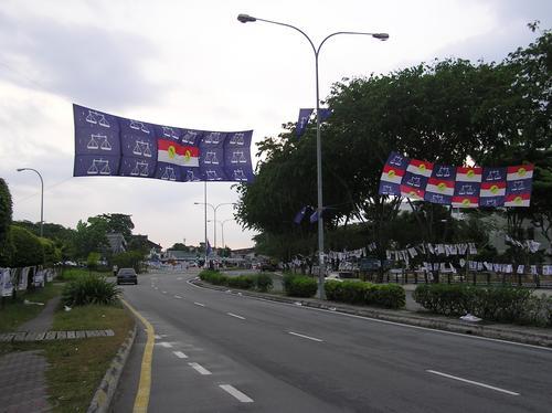 Barisan and UMNO Banners